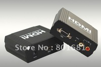 Free Shipping +Tracking number +assured quality  Brand new VGA+ R/L TO HDMI Converter +With retail package+Wholesales