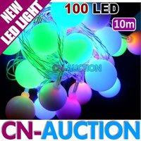 FREE SHIPPING! 10m 100 LED Christmas Lights LED Light String Colorful Ball LED Lamp (CN-LSL20) [Cn-Auction Lighting]