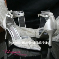 Dropshipping  Ivory wedding party shoes with jewellry
