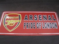 Arsenal plate / license plate 1 piece