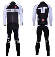 2011 Best Selling Winter Fleece/Thermal Cycling Jerseys and Bib Pant Set/Bicycle Wear/ Bikling Clothing/Cyclegear+Free Shipping