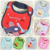 Free shipping 2015 latest embroidery Waterproof babybibs Saliva towel cotton baby bib