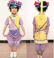 Size 80-140 ! 5 Parts included ! Free Shipping ! Lovery National Style Kids Wear Kids Clothes Kids Set Customized Size Purple