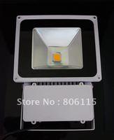 DHL Shipping + 1PC  80W Flood Light 8000 Lumens LED FloodLight 85V-265V Warm White/White Waterproof Floodlight