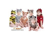 Free shipping  Modeling rompers Baby rompers baby suits baby clothing 2pc rompers+hat, 8set/lot,Leopard,Bee,Zebra,Giraffe