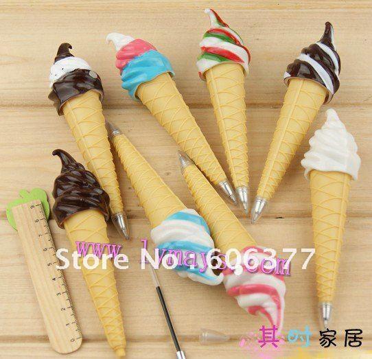 BP031 Wholesales Kawaii Cartoon ICE CREAM ball pen/Korean Style Ball Pen/Novelty stationery free shipping!(China (Mainland))