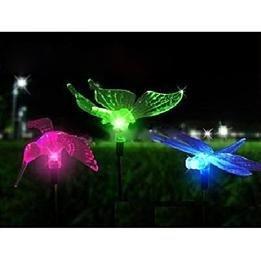 Super Solar Butterfly Hummingbird Dragonfly LED Solar Power Garden Lights
