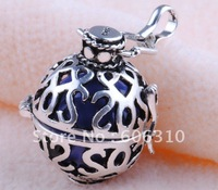 Free shipping  925 Sterling Silver Mexico bola Harmony Ball bell ringing Chime Pendant H8-20-D5