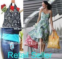 [MOQ 5 pcs] Fashion Folding Bags Reusable ECO-friendly Bags Shopping Portable Bag
