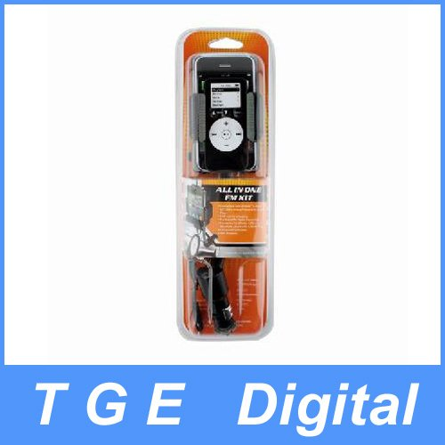 Free Shipping! All in One Car Kit Charger FM Transmitter for iPhone 4G/3GS with Remote(China (Mainland))