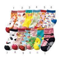 60 Pairs/lot- 12 designs Baby cotton socks/Baby sock