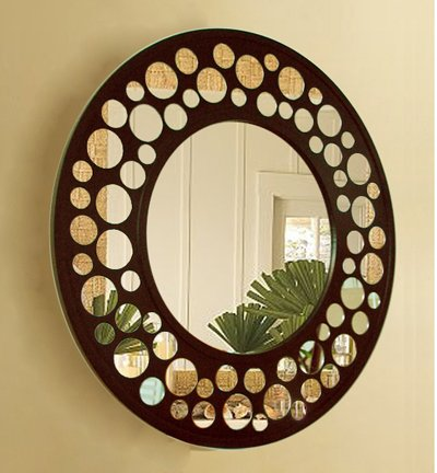 decor on wall mirror decor glass wall mirror wooden elegant wall decor - Wall Decor Mirrors