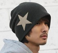 10pcs/lot Cowboy's knitted Man's hats winter star hat,fashion style for lovers'