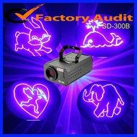 SD-300B single blue animation laser light with SD card