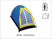 Free shipping  180Tployester  waterproof 2000mm 1 person outdoor camping  tent