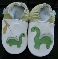 new soft sole 100%  leather baby shoes 0-6months  #071