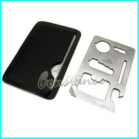Credit card opener / Novelty Cool Beer bottle opener /camping Multifunctional Knife / Stainless steel + Free shipping