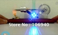 NEW HOT AIR STIRLING ENGINE ELECTRICITY/POWER GENERATOR FUNNY TOY WITH 4 LEDs