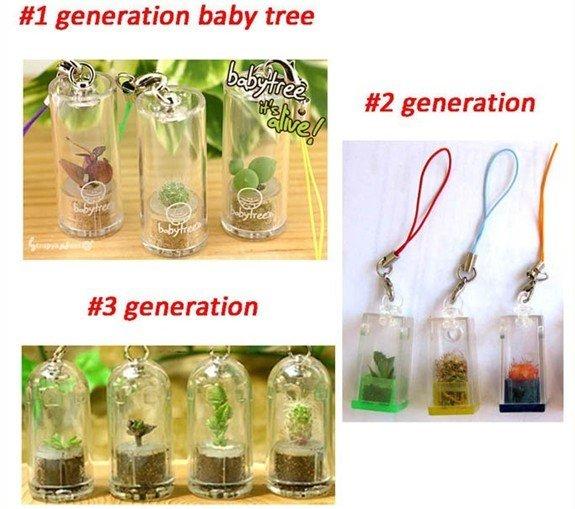Promotion Baby tree,Cell Phone Strap,mini garden,mini farm,plant pet,pet plant,portable farm,car decoration(China (Mainland))