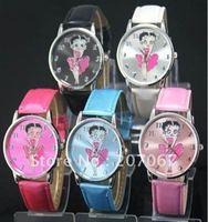 free shipping 5pcs Sexy Betty Boop Quartz Girls Ladies Wrist Watch B3