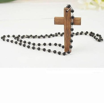 cross shape necklace, korean jewelry, Sweater chain, torque