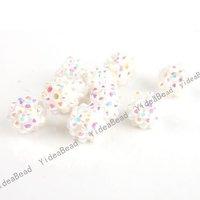 45pcs Well Sale  ACRYLIC Spacer Shinestone Bead Resin Rhinestone Charms Ball Beads Fit  Shambala Bracelets 111116
