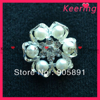 free shipping pearl button,flower button,good quanlity(wbk-971)