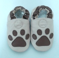 new soft sole 100%  leather baby shoes 0-6months  #137