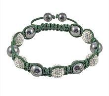 Wholesale - NEW HOTSALE Tresor Paris 'Louvre' White Crystal Magnetite Bracelet,Tresor Paris bracelet.(China (Mainland))