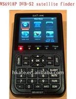 Satlink WS6918P HIQ 8PSK DVB-S & DVB-S2  digital satellite finder meters  TV receiver tuner finder