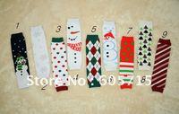 Factory wholesale  2011 NEW 40pcs/lot baby leg warmer baby socks/Christmas leg warmers baby stocking ankle socks free shipping