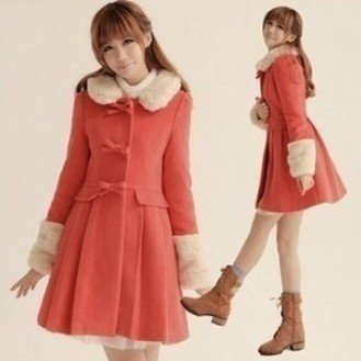 Girls Wool Winter Coats