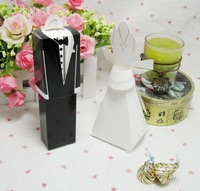 Free shipping 100pcs/lot bride and groom box wedding boxes favour boxes wedding favors