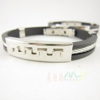 20pcs/lot Free shipping ,The Great Wall lines, Silica gel, The man Hand Catenary Health Bracelet(A2723)