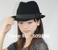 10pcs/  Qiu dong pure wool hat men and women black/hat