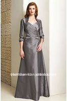 Free shipping! Shoulder straps spaghetti straps satin shine grey mother of the bride dresses