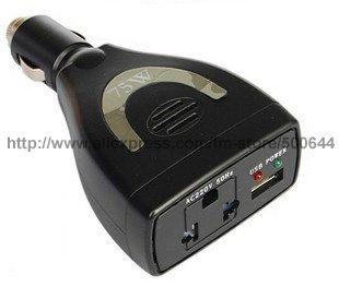 75W Power Inverter DC12V to AC220V 50Hz/75W Car Power Inverter/Car Power Adapter & 20PCS/Lot DHL/UPS/EMS Free Shipping