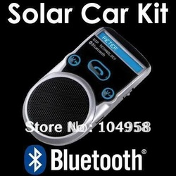 Bluetooth Car Kit Handsfree call Car Kit LCD Display Solar Powered Free Shipping(China (Mainland))