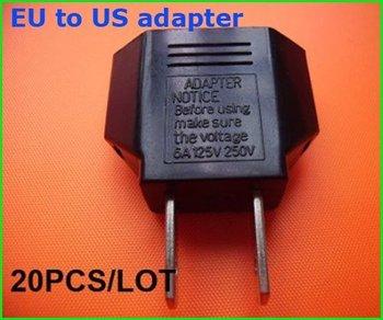 20pcs EU Plug Adapter travel adapter US TO EURO EU Travel Charger Plug Adapter
