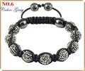SBL06 Wholesale tresor paris bracelet shamballa crystal beads disco ball christmas jewelry
