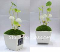 wholesale free shipping,2pcs/lot Solar avatar mushroom lamp,Solar light-operated energy-saving Nightlight,Solar LED light