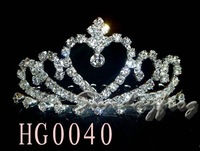 Fast Free Shipping! Gorgeous Alloy With Austria Rhinestones Wedding Bridal Tiara/ Combs/ Headpiece -HG0040