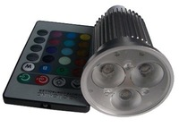 9W RGB LED spotlight with remote controller
