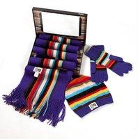 New designer winter Fashion scarf,gloves hat set girl scarf,100% wool scarves Free shipping