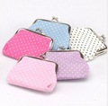 9*7cm Polka Dot print coin purses,chinese vintage style coin bags,Wedding gifts  Zero purses mixed styles Freeshipping