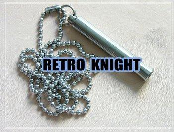 @@Retro Knight@@Outdoor Survival whistle titanium alloy Survival whistle,mini Survival whistle 50mm length
