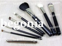 free shipping ! 10pcs Cheap 8 Pieces Brush set+ leather Pouch (10 pcs)