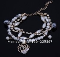 fashion imitation pearl charm bracelet,12pcs/lot free-shipping