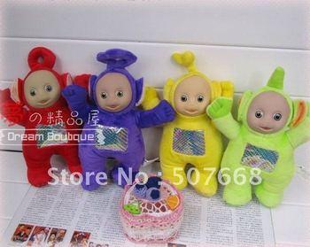 """Teletubby plush toy 13"""" Teletubbies Laa Teletubbies Tinky Winky 120pcs/lot Free Shipping"""