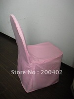 pink Polyester Chair Cover/banquet chair cover/wedding chair cover